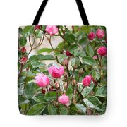 Pink Rose Buds Tote Bag
