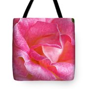 Pink Rose Close Up Tote Bag