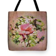 Pink Rose Doily Tote Bag