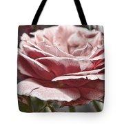 Pink Rose Faded Tote Bag