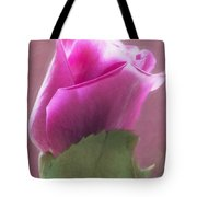 Pink Rose In Light Tote Bag
