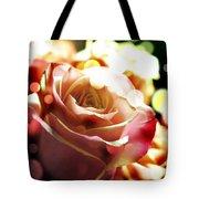 Pink Rose In Sparkling Lights Tote Bag
