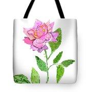 Pink Rose, Painting Tote Bag