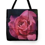 Pink Rose Photo Sculpture Tote Bag