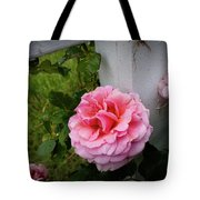 Pink Rose Tote Bag by Valeria Donaldson