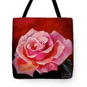 Pink Rose With Dew Drops Jenny Lee Discount Tote Bag