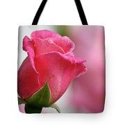 Pink Rosebud 3 Tote Bag