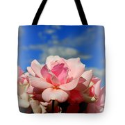 Pink Roses Against The Beautiful Arizona Sky Tote Bag
