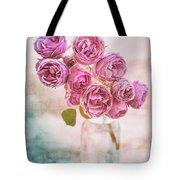 Pink Roses Beauty Tote Bag