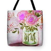 Pink Roses By Toni Tote Bag