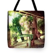 Pink Roses On The Porch Tote Bag