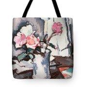 Pink Roses Tote Bag by Samuel John Peploe