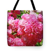 Pink Roses Summer Rose Garden Roses Giclee Art Prints Baslee Troutman Tote Bag