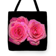 Pink Roses With Enameled Effects Tote Bag