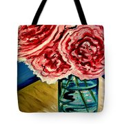 Pink Ruffled Peonies Tote Bag