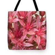 Pink Sedum Flower Macro Tote Bag