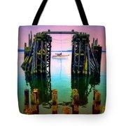 Pink Skies In Port Townsend Tote Bag