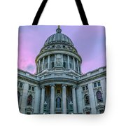 Pink Sky On The Square Tote Bag