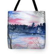Pink Sky Reflections Tote Bag