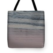 Pink Sky Reflections In The Sand Tote Bag