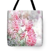 Pink Snapdragons Watercolor Tote Bag