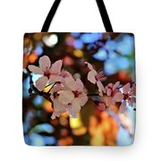 Pink Spring Flowers Tote Bag
