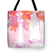 Pink Still Life Tote Bag