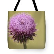 Pink Thistle Tote Bag