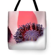 Pink Through The Poppy Tote Bag