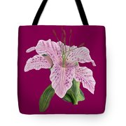 Pink Tiger Lily Blossom Tote Bag
