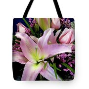 Pink Tiger Lily Tote Bag