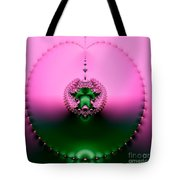 Pink Topaz And Emerald Green Necklace Fractal Tote Bag