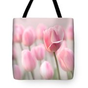 Pink Tulip Cloud Tote Bag