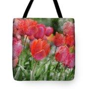 Pink Tulip Macro Tote Bag