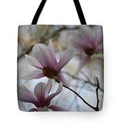 Pink Tulip Magnolias Tote Bag