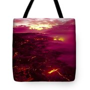 Pink Volcano Sunrise Tote Bag