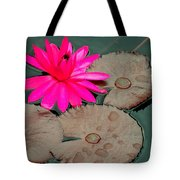 Pink Water Lily Tote Bag