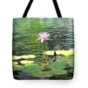 Pink Water Lily Pad Tote Bag