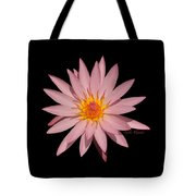 Pink Water Lily Transparent Tote Bag