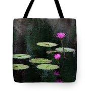Pink Waterlillies Tote Bag