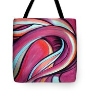 Pink Wave Of Energy. Abstract Vision Tote Bag