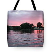 Pink Waves Sunset Tote Bag
