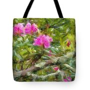 Pink With Lichen Tote Bag