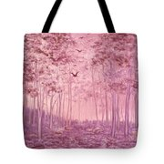 Pink Woods Tote Bag