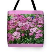 Pink Yarrows Tote Bag