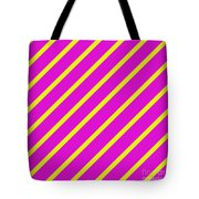 Pink Yellow Angled Stripes Tote Bag