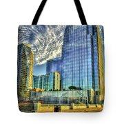 Pinnacle Building Sunset Nashville Shadows Nashville Tennessee Art Tote Bag