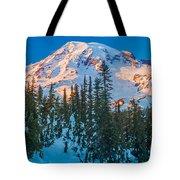 Pinnacle Saddle Winter Tote Bag
