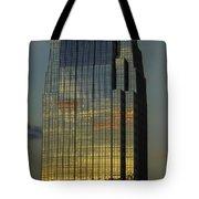 Pinnacle Sunset Reflection Tote Bag