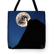 Pinon Pine And Moon Zion National Park  Tote Bag